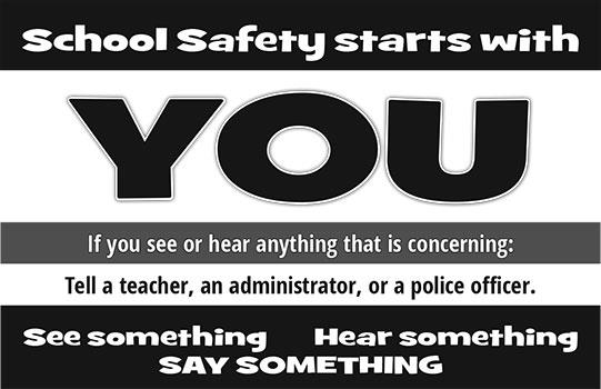 School safety starts with you