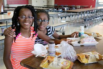 Students participating in summer meals program